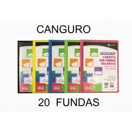CARPETA 20 FUNDAS CARCHIPLAS CANGURO