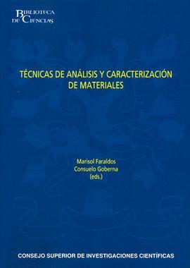 TÉCNICAS DE ANÁLISIS Y CARACTERIZACIÓN DE MATERIALES (2ª EDICIÓN REVISADA Y AUMENTADA)