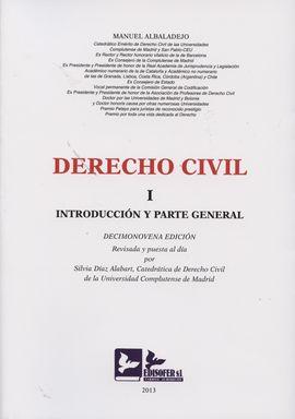 DERECHO CIVIL. I INTRODUCCIÓN Y PARTE GENERAL