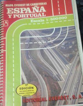 MAPA DE CARRETERAS DE ESPAÑA Y PORTUGAL. 1:500.000