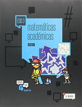 MATEMÁTICAS ACADÉMICAS 3º ESO (TRES VOLÚMENES)