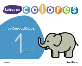 LETRAS DE COLORES CUAD LECTOESCRITURA 1 PAUTA