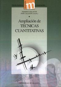 AMPLIACIÓN DE TÉCNICAS CUANTITATIVAS