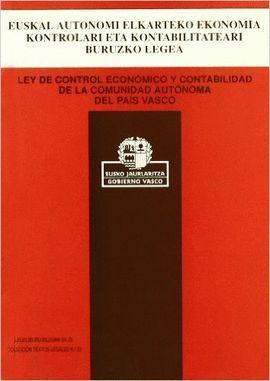 LEY DE CONTROL ECONÓMICO Y CONTABILIDAD DE LA COMUNIDAD AUTÓNOMA DEL PAÍS VASCO