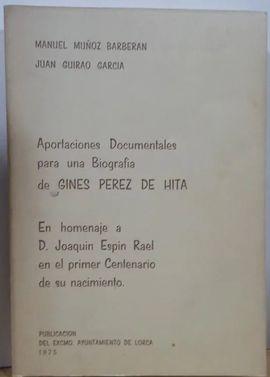 APORTACIONES DOCUMENTALES PARA BIOGRAFIA DE GINES PEREZ DE HITA