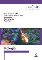 BIOLOGIA PARA EL ACCESO A CICLOS FORMATIVOS DE GRADO SUPERIOR.PRUEBA LIBRE PARA