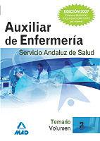 AUXILIAR DE ENFERMERIA DEL SERVICIO ANDALUZ DE SALUD. VOLUMEN II. TEMARIO