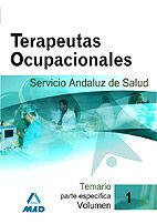 TERAPEUTAS OCUPACIONALES DEL SERVICIO ANDALUZ DE SALUD. TEMARIO PARTE ESPECÍFICA