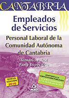EMPLEADOS DE SERVICIOS. PERSONAL LABORAL DE LA COMUNIDAD AUTÓNOMA DE CANTABRIA.