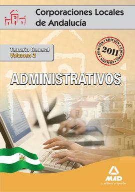 ADMINISTRATIVOS VOL.2 CORPORACIONES LOCALES ANDALUCIA 2011