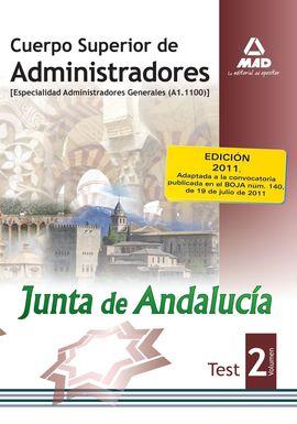 2. TEST CUERPO SUPERIOR ADMINISTRADORES A1-1100 JUNTA ANDALUCIA
