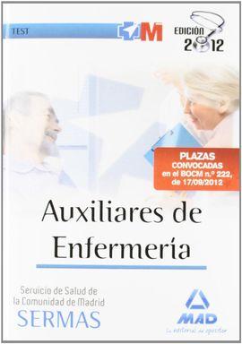 AUXILIARES DE ENFERMERÍA DEL SERVICIO DE SALUD, COMUNIDAD DE MADRID. TEST