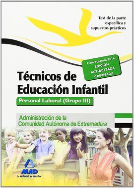 TÉCNICOS EN EDUCACIÓN INFANTIL. TEST Y SUPUESTOS PRÁCTICOS. PARTE ESPECÍFICA