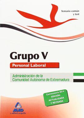 GRUPO V PERSONAL LABORAL DE LA ADMINISTRACIÓN DE LA COMUNIDAD AUTÓNOMA DE EXTREM
