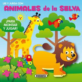 LEE Y JUEGA CON ANIMALES DE LA SELVA ¡PARA MONTAR Y JUGAR!