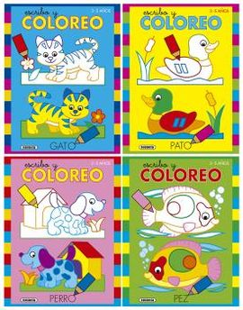 ESCRIBO Y COLOREO 3-5 AÑOS (4 TÍTULOS)