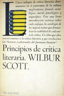 PRINCIPIOS DE CRÍTICA LITERARIA