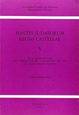 FONTES IUDAEORUM REGNI CASTELLAE V