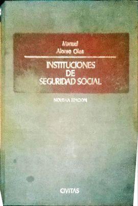 INSTITUCIONES DE SEGURIDAD SOCIAL