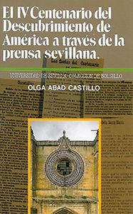 EL IV CENTENARIO DEL DESCUBRIMIENTO DE AMÉRICA A TRAVÉS DE LA PRENSA SEVILLANA