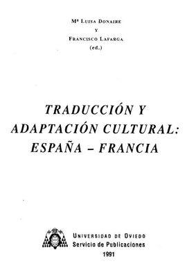 TRADUCCIÓN Y ADAPTACIÓN CULTURAL: ESPAÑA-FRANCIA