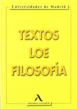 FILOSOFÍA, 2 BACHILLERATO. TEXTOS