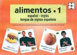 ALIMENTOS 1-BARAJA ESPAÑOL INGLES LENUGA DE SIGNOS ESPAÑOLA