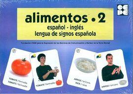 ALIMENTOS 2-BARAJA ESPAÑOL INGLES LENGUA DE SIGNOS ESPAÑOLA