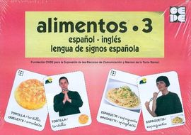 ALIMENTOS 3-BARAJA ESPAÑOL INGLES LENGUA DE SIGNOS ESPAÑOL