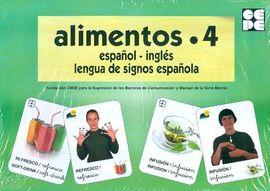 ALIMENTOS 4-BARAJA ESPAÑOL INGLES LENGUA DE SIGNOS ESPAÑOLA