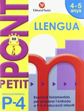 PETIT PONT P4, LLENGUA, EDUCACIÓ INFANTIL