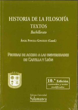 HISTORIA DE LA FILOSOFIA. TEXTOS-BACHILLERATO.10ª EDICION