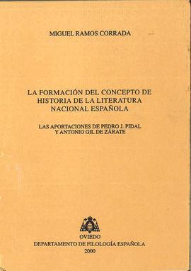 LA FORMACIÓN DEL CONCEPTO DE HISTORIA DE LA LITERATURA NACIONAL ESPAÑOLA