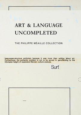 ART & LENGUAGE UNCOMPETED