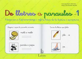 DE LLETRES A PARAULES 1