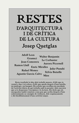 RESTES D'ARQUITECTURA I DE CRÍTICA DE LA CULTURA