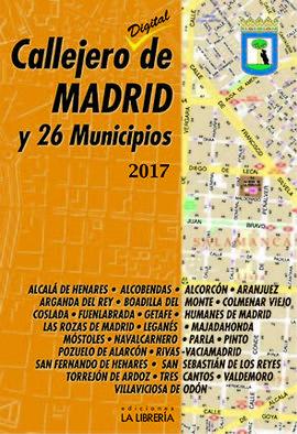 CALLEJERO DE MADRID Y 26 MUNICIPIOS 2017