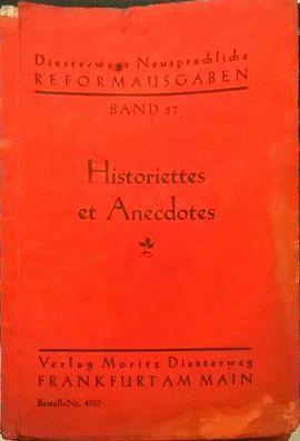 HISTORIETTES ET ANECDOTES