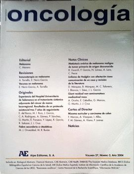 REVISTA ESPAÑOLA DE ONCOLOGÍA AÑO 2004, VOL. 27, NÚMERO 3