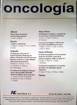 REVISTA ESPAÑOLA DE ONCOLOGÍA AÑO 2003, VOL. 26, NÚMERO 9