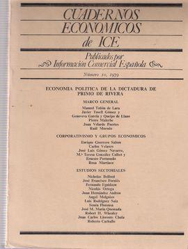 CUADERNOS ECONOMICOS DE ICE. NUM. 10, 1979