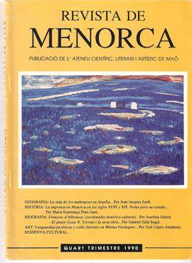 LA VIDA DE LOS MAONESES EN ARGELIA. UN PUEBLO DE COLONIZACIÓN MAONESA: FORT DE L´EAU. REVISTA DE MENORCA. 1990, IV