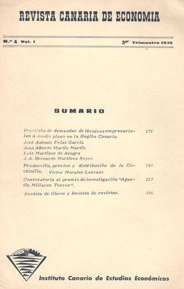 REVISTA CANARIA DE ECONOMÍA, NUM. 4, VOL. 1, 3ER TRIM., 1972