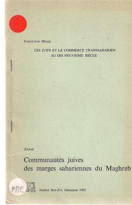LES JUIFS ET LE COMMERCE TRANSSAHARIEN AU DIX-NEUVIEME SIECLE