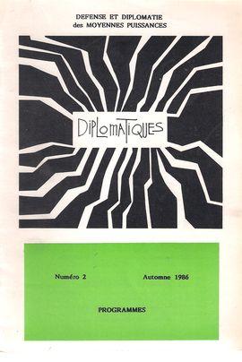 DIPLOMATIQUES. NUM. 2, AUTOMNE 1986. PROGRAMMES DDMP