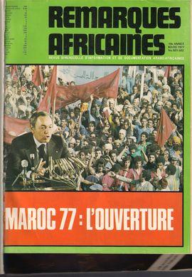 REMARQUES AFRICAINES. MARS 1977: MAROC 77/ CUAD.  DIÁLOGO: SUPLEMEN, 76, 1976: SOCIALISMO ESPAÑOL Y ANTICOLONIALISMO, 1898-1914/ CUAD. DIÁLOGO: SUPLEM