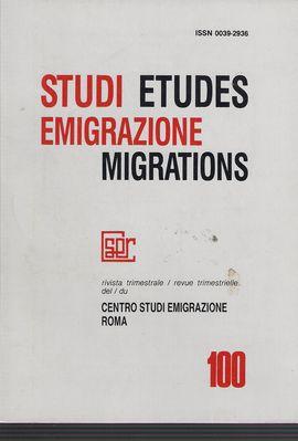 STUDI EMIGRAZIONE. NUM. 100, DICEM. 1990. GLI INDICI DELLA RIVISTA DAL N. 1 AL N. 99 (1964-1990)