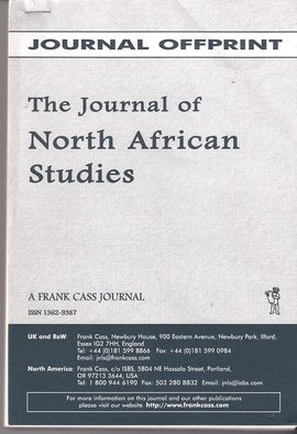 THE JOURNAL OF NORTH AFRICAN STUDIES. VOL. 4, NUM. 2. SUMMER 1999. A SPECIAL ISSUE ON TRIBE AND SOCIETY IN RURAL MOROCCO