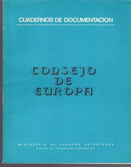 CUADERNOS DE DOCUMENTACIÓN. CONSEJO DE EUROPA