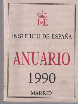 INSTITUTO DE ESPAÑA. ANUARIO 1990. MADRID
